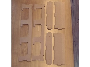 Gunrack for airsoft replicas DXF MDF 8MM CNC
