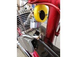 Carburetor airbox (air filter holder) for motorized bicycle