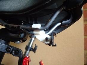 Rear bolt mount bike light clip