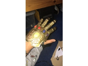 Infinity Gauntlet articulated fingers for glove