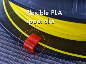 Flexible PLA spool clip (1.75mm)