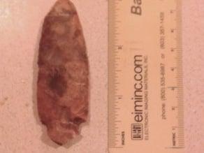 Light Pre-Choctaw Little Bear Creek-Type Projectile Point Arrowhead, 2,500 BC