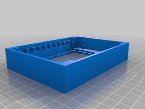 gel electrophoresis box with step up high voltage enclosure
