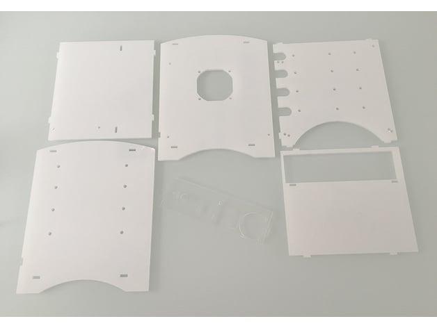 NAS Mini-ITX case Plexy 3mm lasercutted