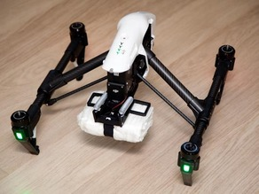 Parachute mount for DJI Inspire 1