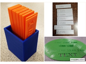 3D printing thickness templates for classroom