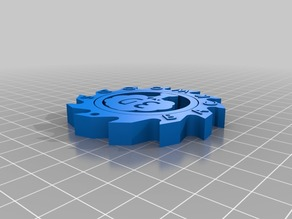 Backwoods 3D Maker Coin/ Print in place Rotating Toy