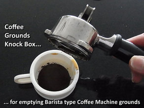 Barista Coffee Machine Knock Box for Coffee Grounds