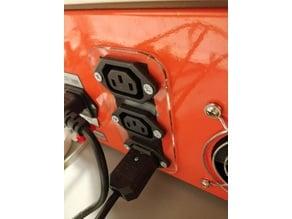 IEC C-13 panel mount holder