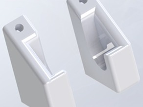 Filament rod brackets for vertical mounting on table legs