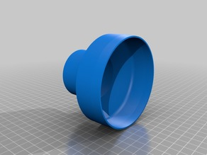 54mm to 100mm adapter for air hose (parametric F360, other sizes possible)