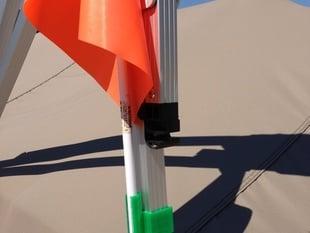 ski flag holder