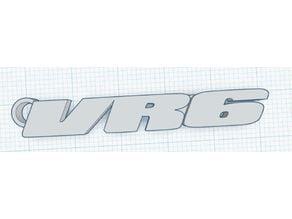 VR6 logo key chain