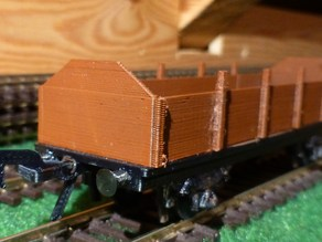 open freight car scale H0