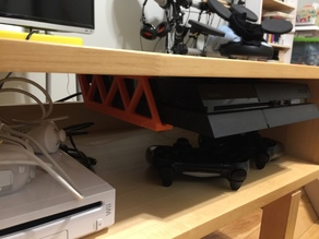 PS4 UnderShelf Holder v1.0