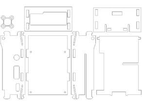 Raspberry pi 2 lasercut case