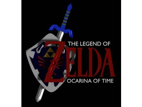 Ocarina of Time Logo Paperweight