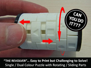 "The ""Revolver"" - One Colour Print version of this Challenging Revolving Puzzle"