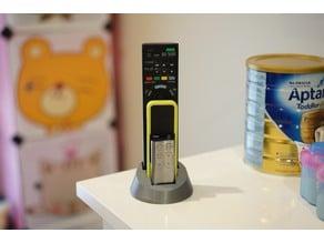 Low Profile Remote Control Holder (Customizable)