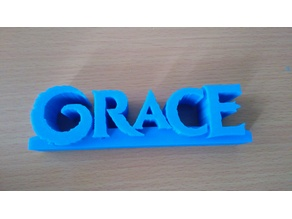 Frozen Style Nameplate