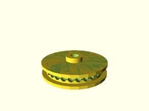 Parametric Ball Chain Pulley Remix