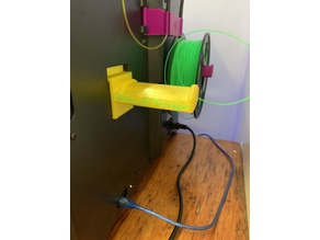 Dual Extrusion Spool Holder FlashForge Creator Pro Wide And Thin Style