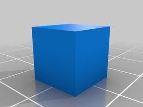 1 CM cube CALIBRATION TEST