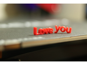 Love you - Text