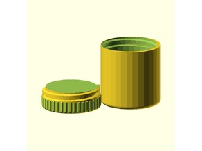 Cylindrical box with screw top