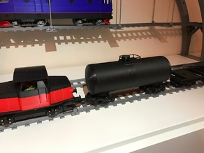 Tanker car for OS-Railway - fully 3D-printable railway system!