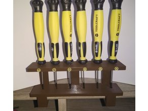 Screwdriver holder with snap-on