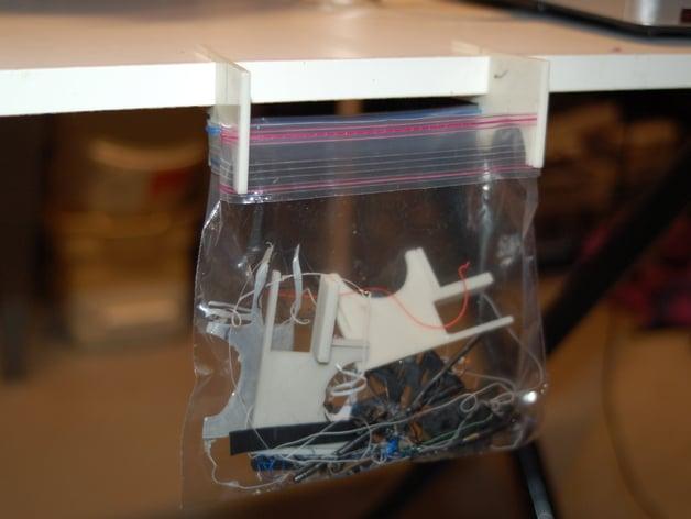 3d Printer Filament >> Work Table Trash Bag Holder by Eckerput - Thingiverse