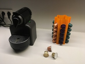 Nespresso capsule holder tower (Spiral)