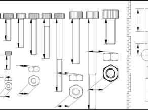 Metric Bolt Size Reference for Thing-O-Matic Assembly