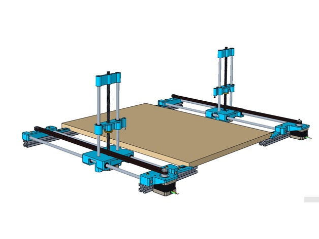 4 Axis CNC Hotwire Foam Cutter by Dodo3441 - Thingiverse  Axis Cnc Router Wiring Diagram on