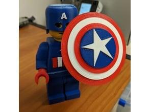 Captain America Giant Lego Multicolor Remix