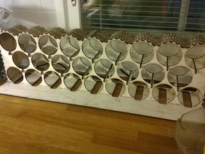 Large plywood wine rack