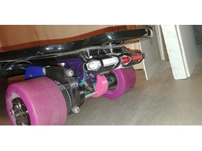 skateboard truck riser with tail light mount
