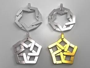 Expandable pentagonal pendant/keychain