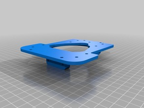 Diamond Hotend mount for MH3000 and RoVa3D printers by ORD Solutions.