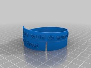 Combs Spiral Poem Bracelet Mark 2