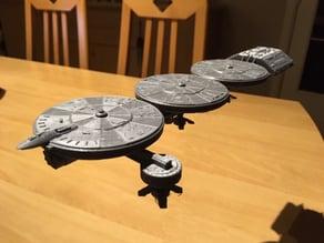"""Mining """"Filmcan"""" Ship from Battlestar Galactica ragtag fleet"""