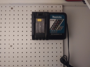Makita Peg Board Charger Holder mount