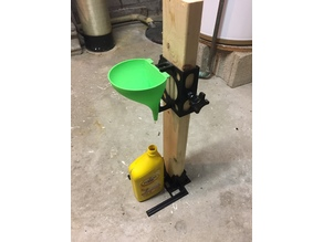 Adjustable Height Funnel - 2x4 Mounted