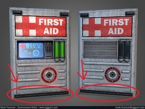 H.E.V. Charge Unit or First Aid Station Base 1:1