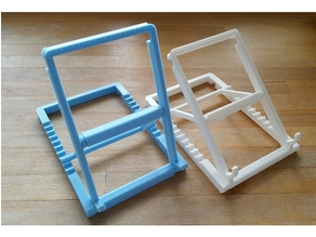 Adjustable-angle tablet/phone -stand with print in place hinges (Extra Steps)