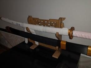 Vrai Support Katana taille réelle pour katana jusqu'a 1,40 m