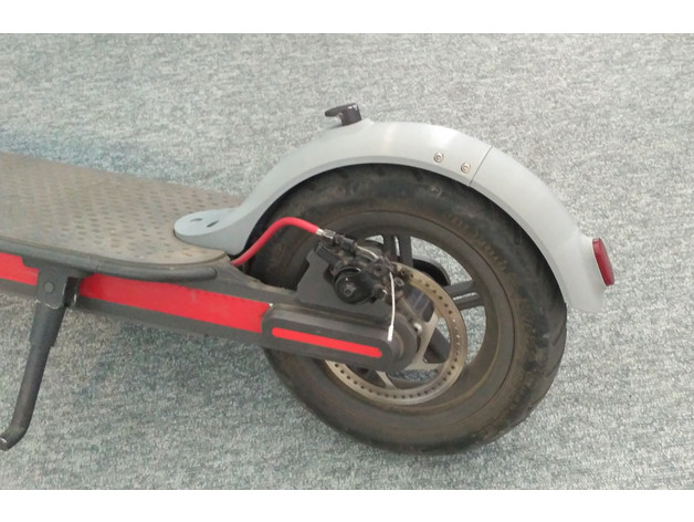 Xiaomi scooter m365 rear mudguard by emartinelli - Thingiverse
