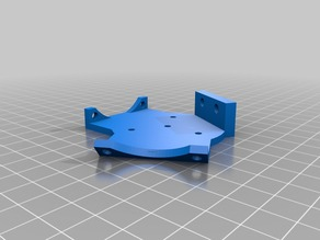Dual fan mount for Kossel Mini effector for G3D Budaschnozzle