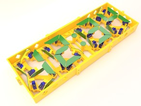 Fully 3D-Printed Servo-Driven Digital Clock